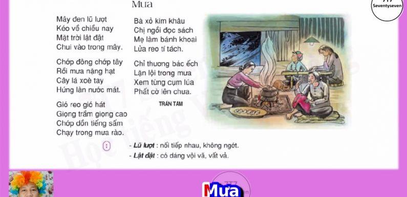 Lớp 3 – Bài thơ – Mưa