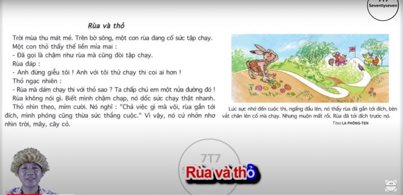 Rùa và thỏ – Lớp 4 – Tuần 11 – Bài 5