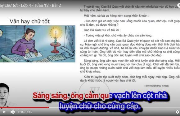 Văn hay chữ tốt – Lớp 4 – Tuần 13 – Bài 2