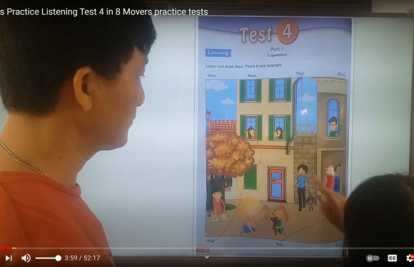 Listening Test 4 – 8 Movers practice tests