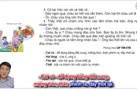 Những quả đào – Lớp 2 – Tuần 29 – Trang 91 – Tiếng Việt 2 tập 2