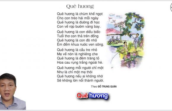 Quê hương – Lớp 3 – Tuần 10 – Trang 79 – Tiếng Việt 3 tập 1