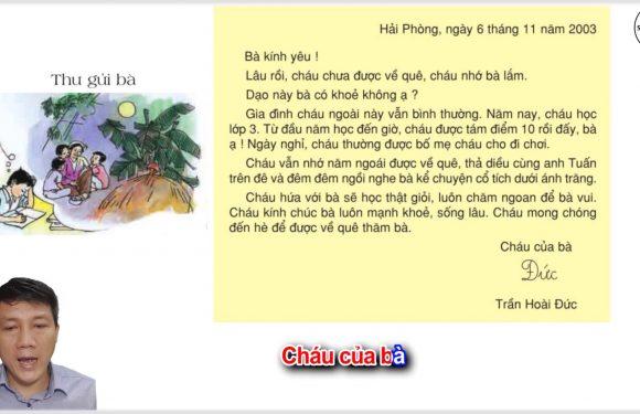 Thư gửi bà – Lớp 3 – Tuần 10 – Trang 81 – Tiếng Việt 3 tập 1