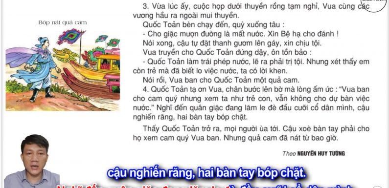 Bóp nát quả cam  – Lớp 2 – Tuần 33 – Trang 124 – Tiếng Việt 2 tập 2