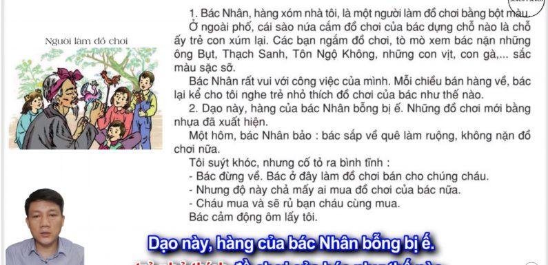 Người làm đồ chơi – Lớp 2 – Tuần 34 – Trang 134 – Tiếng Việt 2 tập 2