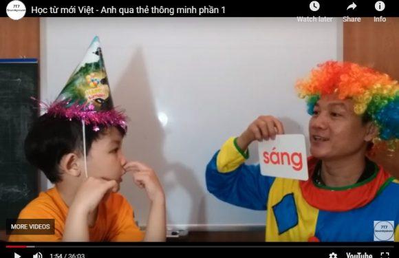 Học từ mới Việt – Anh qua thẻ thông minh phần 1