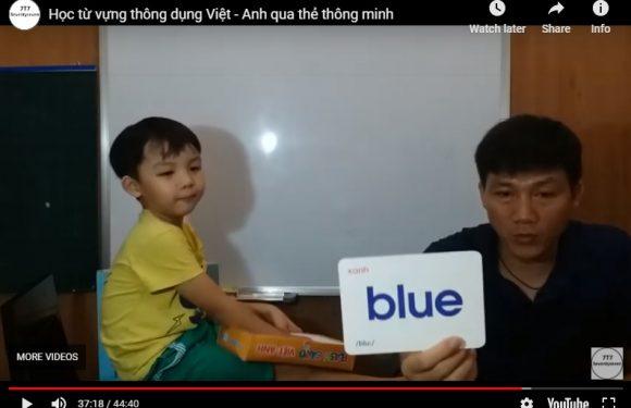 Học từ thông dụng Việt – Anh phần 2 – Lớp 1