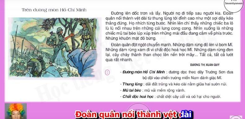 Trên đường mòn Hồ Chí Minh – Lớp 3
