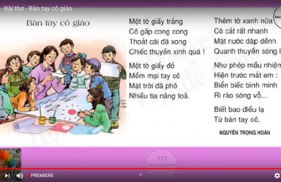 Lớp 3 – Bài thơ – Bàn tay cô giáo