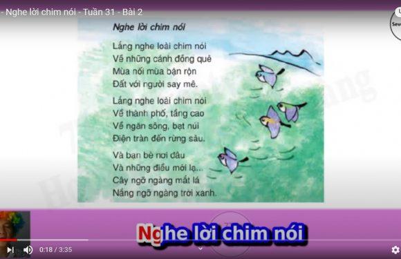 Lớp 4 – Nghe lời chim nói – Tuần 31 – Bài 2