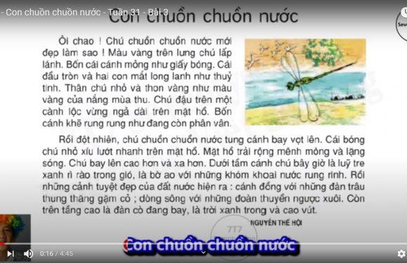 Lớp 4 – Con chuồn chuồn nước – Tuần 31 – Bài 3