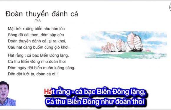 Đoàn thuyền đánh cá – Lớp 4 – Tuần 24 – Bài 3