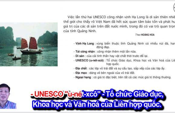 Vịnh Hạ Long được tái công nhận là di sản thiên nhiên thế giới – Lớp 4 – Tuần 24 – Bài 4