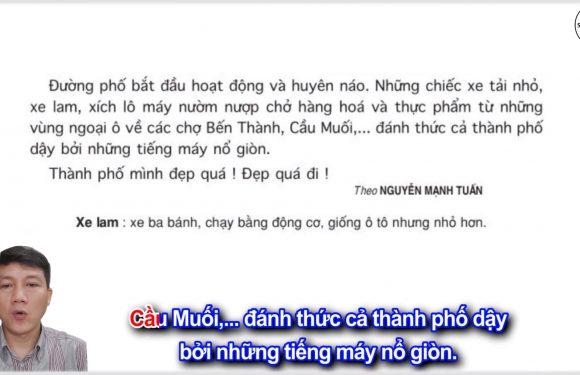 Buổi sáng ở Thành phố Hồ Chí Minh – Lớp 5 – Tuần 31 – Trang 132 – SGK Tiếng Việt 5 tập 2