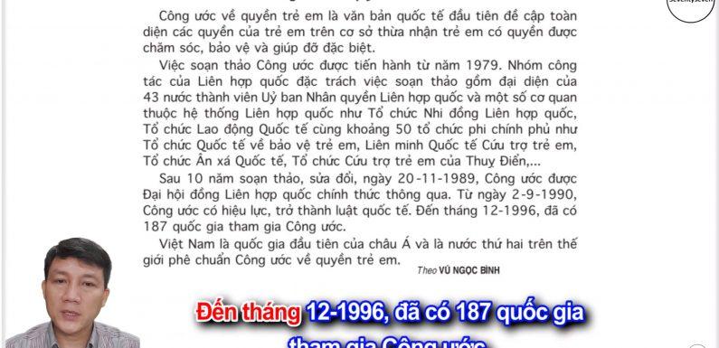 Công ước về quyền trẻ em – Lớp 5 – Tuần 33 – Trang 147 – SGK Tiếng Việt 5 tập 2