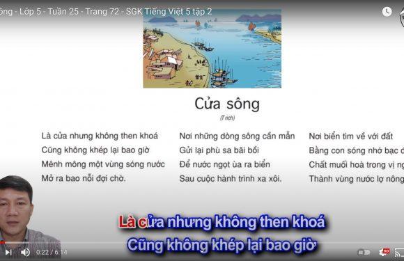 Cửa sông – Lớp 5 – Tuần 25 – Trang 72 – SGK Tiếng Việt 5 tập 2