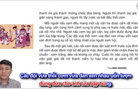 Hội thổi cơm thi ở Đồng Vân – Lớp 5 – Tuần 26 – Trang 84 – SGK Tiếng Việt 5 tập 2