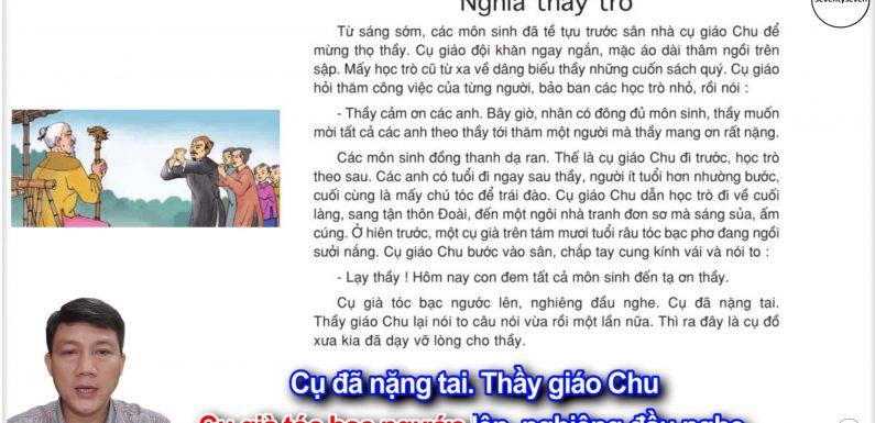 Nghĩa thầy trò – Lớp 5 – Tuần 26 – Trang 79 – SGK Tiếng Việt 5 tập 2