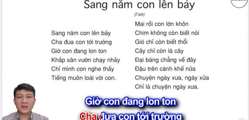 Sang năm con lên bảy – Lớp 5 – Tuần 33 – Trang 149 – SGK Tiếng Việt 5 tập 2