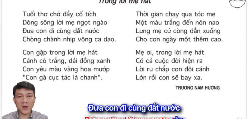 Trong lời mẹ hát – Lớp 5 – Tuần 33 – Trang 146 – SGK Tiếng Việt 5 tập 2