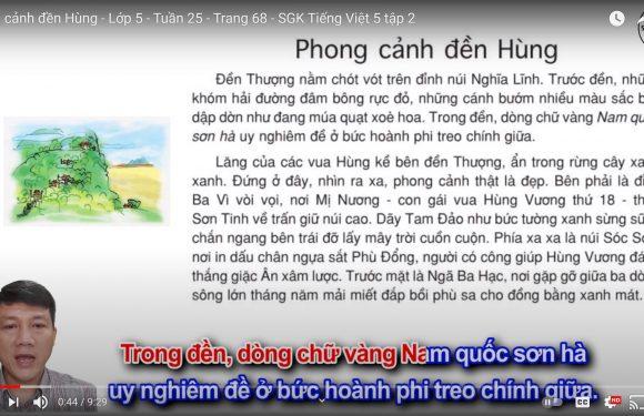 Phong cảnh đền Hùng – Lớp 5 – Tuần 25 – Trang 68 – SGK Tiếng Việt 5 tập 2