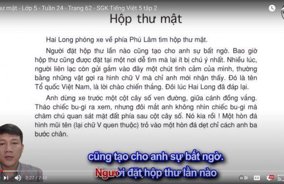 Hộp thư mật – Lớp 5 – Tuần 24 – Trang 62 – SGK Tiếng Việt 5 tập 2