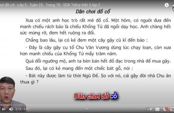 Dân chơi đồ cổ – Lớp 5 – Tuần 25 – Trang 70 – SGK Tiếng Việt 5 tập 2