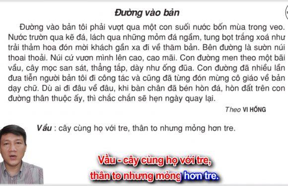 Đường vào bản – Lớp 3 – Tuần 18 – Trang 150 – Tiếng Việt 3 tập 1
