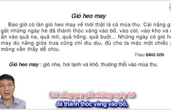 Ôn tập giữa kỳ 1 – Gió heo may – Lớp 3 – Tuần 8 – Trang 70 – Tiếng Việt 3 tập 1