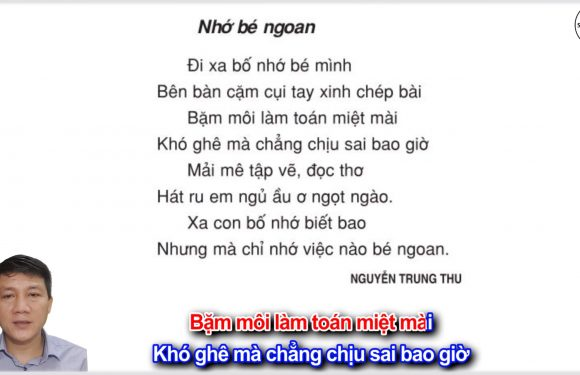 Ôn thi giữa kỳ 1 – Nhớ bé ngoan – Lớp 3 – Tuần 8 – Trang 74 – Tiếng Việt 3 tập 1