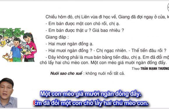 Bán chó – Lớp 2 – Tuần 15 – Trang 124 – Tiếng Việt 2 tập 1