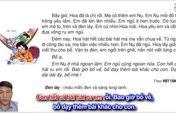 Bé Hoa – Lớp 2 – Tuần 15 – Trang 121 – Tiếng Việt 2 tập 1