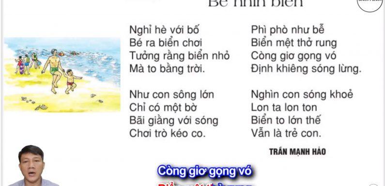Bé nhìn biển – Lớp 2 – Tuần 25 – Trang 65 – Tiếng Việt 2 tập 2