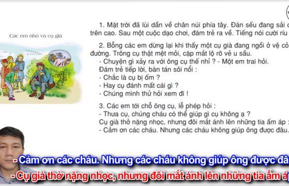 Các em nhỏ và cụ già – Lớp 3 – Tuần 8 – Trang 62 – Tiếng Việt 3 tập 1