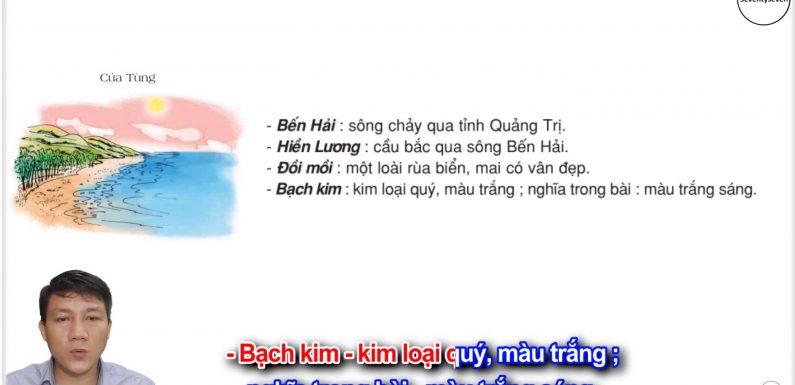 Cửa Tùng – Lớp 3 – Tuần 13 – Trang 109 – Tiếng Việt 3 tập 1