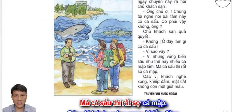 Cá sấu sợ cá mập – Lớp 2 – Tuần 26 – Trang 74 – Tiếng Việt 2 tập 2