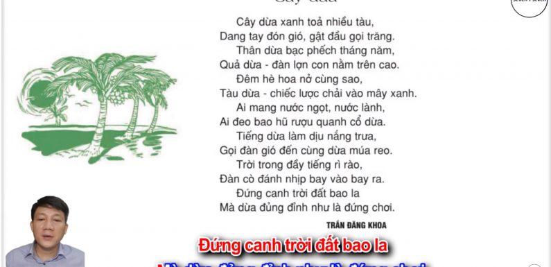 Cây dừa – Lớp 2 – Tuần 28 – Trang 88 – Tiếng Việt 2 tập 2