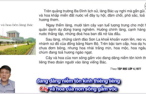 Cây và hoa bên lăng Bác – Lớp 2 – Tuần 31 – Trang 110 – Tiếng Việt 2 tập 2