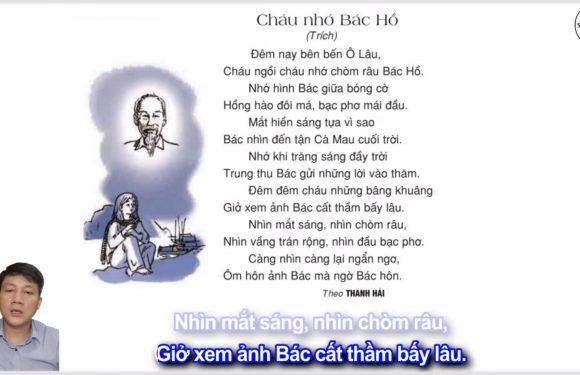 Cháu nhớ Bác Hồ – Lớp 2 – Tuần 30 – Trang 105 – Tiếng Việt 2 tập 2