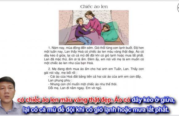 Chiếc áo len – Lớp 3 – Tuần 3 – Trang 20 – Tiếng Việt 3 tập 1