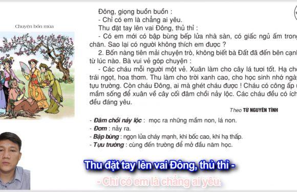 Chuyện bốn mùa – Lớp 2 – Tuần 19 – Trang 04 – Tiếng Việt 2 tập 2