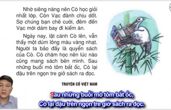 Cò và Vạc – Lớp 2 – Tuần 18 – Trang 151 – Tiếng Việt 2 tập 1 – Ôn tập cuối kỳ 1