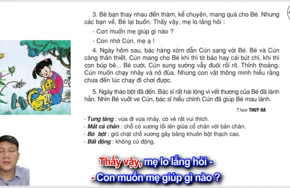 Con chó nhà hàng xóm – Lớp 2 – Tuần 16 – Trang 128 – Tiếng Việt 2 tập 1
