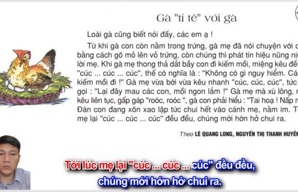 Gà tỉ tê với gà – Lớp 2 – Tuần 17 – Trang 141 – Tiếng Việt 2 tập 1