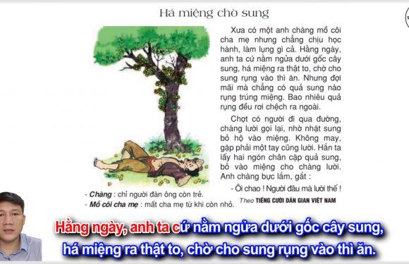 Há miệng chờ sung – Lớp 2 – Tuần 13 – Trang 109 – Tiếng Việt 2 tập 1