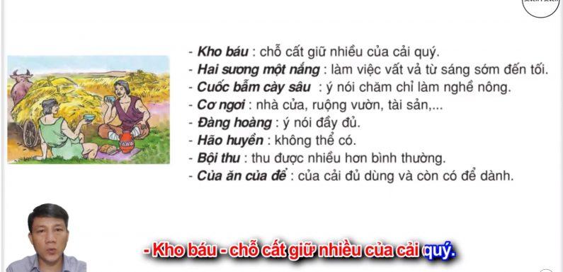 Kho báu – Lớp 2 – Tuần 28 – Trang 83 – Tiếng Việt 2 tập 2