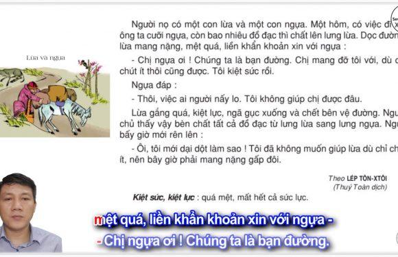 Lừa và ngựa – Lớp 3 – Tuần 7 – Trang 57 – Tiếng Việt 3 tập 1