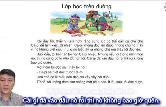 Lớp học trên đường – Lớp 5 – Tuần 34 – Trang 153 – SGK Tiếng Việt 5 tập 2