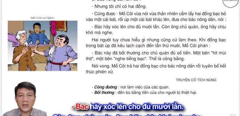 Mồ Côi xử kiện – Lớp 3 – Tuần 17 – Trang 139 – Tiếng Việt 3 tập 1