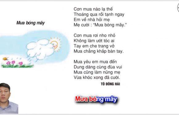 Mưa bóng mây – Lớp 2 – Tuần 20 – Trang 20 – Tiếng Việt 2 tập 2
